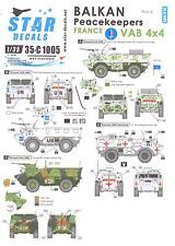 Star Decals 1/35 BALKAN PEACEKEEPERS Part 4 France VAB 4x4