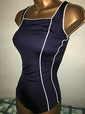SEXY LADIES NAVY AND WHITE MIX SWIMSUIT SIZE 18