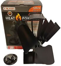 New 2017 2 blade heat powered stove fan log burner wood burning stove fan