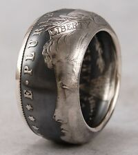 TOP QUALITY~SIZE 10~1878 MORGAN DOLLAR 90% SILVER COIN RING~FREE PRIORITY SHIP