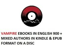 Vampires ebooks English 900+ mixed Authors in kindle & Epub format on a Disc