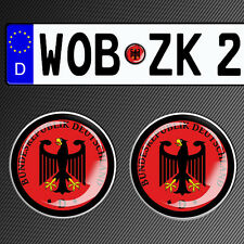 2 GERMAN NUMBER PLATE STICKER 3D CAR BADGE SEAL DEUTSCHLAND GERMANY PLAKETTE G20