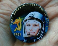 Yuri Gagarin - First man in Space 1961. �� 38mm pin badge