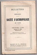 SOCIETE D'ANTHROPOLOGIE DE PARIS 1958 CRANIOLOGIE RWANDA CAMEROUN ARCHEOLOGIE