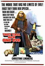 THEY CALL HER ONE EYE Movie POSTER 27x40 Christina Lindberg Heinz Hopf Despina