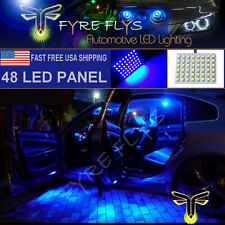 1x Super Bright Blue 48 LED Panel Light for Dome, Map, Cargo, Trunk lights #48PB