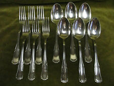 6 couverts de table métal argenté Ercuis Valençay (dinner forks, soup spoons)
