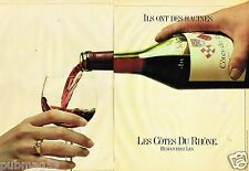 Publicité advertising 1981 (2 pages) Vin Cote du Rhone