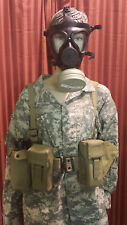 M-15 Gas Mask with Filter, Canvas Survival Harness, Hydration Canteen