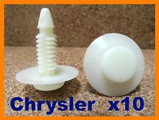 10 Chrysler Jeep door card fascia trim board lining panel fastener pin clips