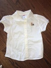 Gymboree Vintage NEW YORK GIRL 5 EUC White collar collar top/blouse Yorkie Dog !
