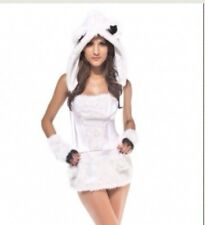 Sexy Deluxe Polar Bear Halloween Costume Medium Nwot
