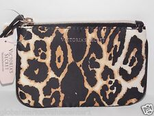 Victoria's Secret Leopard CHEETAH Mini Cosmetic Makeup Bag Purse COINT WALLET