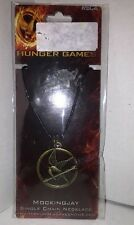 New Licensed Hunger Games Mockingjay Pendant on Leather Cord - NECA