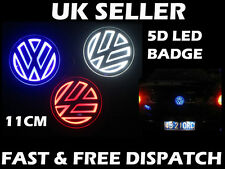 VW 110mm LED 5d BADGE Golf Polo Sharan Jetta Bora LIGHT Up LED Badge Logo Rosso
