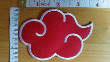 The Akatsuki Symbol #1 Naruto Ninja embroidered Iron on Patch Cosplay Costume