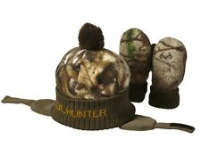 LITTLE LIL HUNTER REALTREE CAMO CAMOUFLAGE BOYS INFANT TODDLER HAT & MITTENS