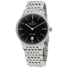 Hamilton Intra-Matic Automatic Black Dial Mens Watch H38455131