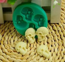 3D DIY Skull Head Silicone Theme Party Fondant Cake Mold Cutter Tools Practical
