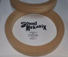 """MDF Speaker / Spacer Rings, 6 1/2"""" X-LARGE Size 1"""" Thick One Pair Made In USA"""
