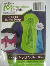 Marvelous Molds Swag Collection -Draped Ruffle Drop- fondant gum paste cake