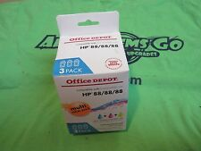 Office Depot HP 88/88/88 3 Pack Ink - CYAN - MAGENTA - YELLOW - REMANUFACTURED