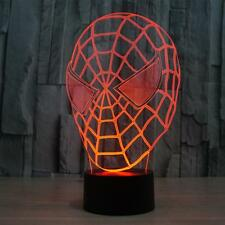 Creative Spider Man Optical Illusion Touch Switch 3D Lamp Colorful Night Lights