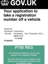 "Private Number Plate For Sale P700 REG DVLA Number Plate ""Reg"" Name Number Plate"