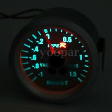2'' 52MM  AUTO LED TURBO BOOST GAUGE MANOMETRO STRUMENTO PRESSIONE 6012SS-BAR