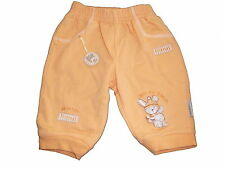 Jacky Baby tolle Sweat Hose Gr. 56 orange mit tollen Applikationen !!