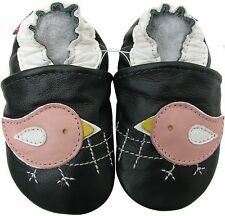 carozoo chicky dark green 12-18m new soft sole leather baby shoes