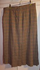 Honey Mix Check Tweed Lined Pure New Wool Ladies Skirt size 18 M&S vintage BNWT