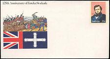 Australia Eureka Stockade, prepagate envolope copertura inutilizzati #C 18667
