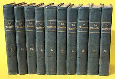VICTOR HUGO,LES MISERABLES,10 BÄNDE,ERSTAUSGABE,STEINACKER,LEIPZIG,1862