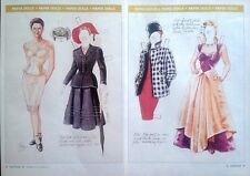Carey & her Vintage Designer Clothes Magazine Paper Doll,1994, Norma Lu Meehan