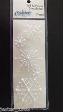 Creative Expressions - Self Adhesive White Pearl Snowflakes - Free UK p&p