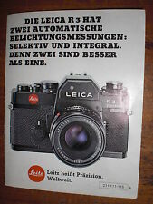 Anleitung Kamera Camera Leica R 3 Cam Electronic instructions камера
