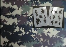 "Camo Digital 03 small 2pc kit (2) 12x9""stencils. Camouflage"