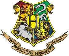 """Harry Potter Hogwarts Crest Cartoon Car Bumper Sticker Decal 5"""" x 4"""""""