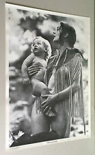 original vintage poster Madonna and Child Mother Baby Frank Kay Hippy 1960s lady