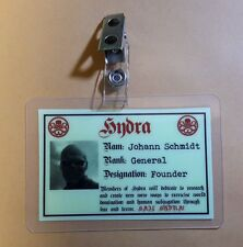 Captain America ID Badge -  Hydra Johann Schmidt cosplay prop costume