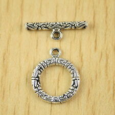 10sets Tibetan silver round toggle clasps h2844