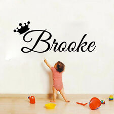 Girls Personalised Name Vinyl Wall Sticker Princess Bedroom Decal For Babygirl
