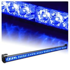 "35"" 36"" 32 LED Emergency Traffic Advisor Light Bar Flash Strobe BLUE"