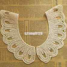 1Pair Cotton Crochet Collar Embroidered Neckline Lace Sewing Applique Trim Craft