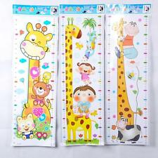 Giraffe Removable PVC Wall Decal Stickers Kids Baby Growth Height Chart Meter