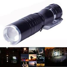 Mini Durable 7W CREE XPE-Q5 LED 14500 AA Mini Flashlight Torch Lamp Light Black