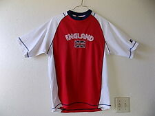 Nice STARTER ENGLAND Soccer Shirt Jersey Size Small Embroidered Letters and Flag