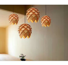 Simple Wood Pine Cone Pendant Lamp Bedroom Hotel Home Chandelier Home Decor New