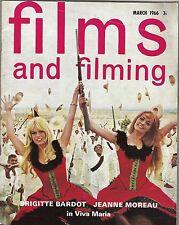 BRIGITTE BARDOT,PETER SELLERS, DAVID NIVEN plus reviews UK film magazine 1966